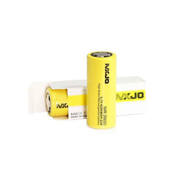 MXJO IMR 26650 4200MAH 22A 3.7V Flat Top Battery
