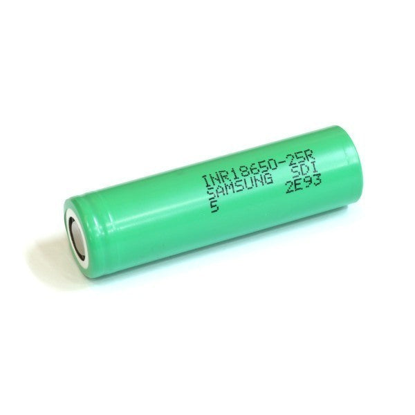Samsung 25R 18650 2500mAh 20A Flat Top Battery (1 Pack)