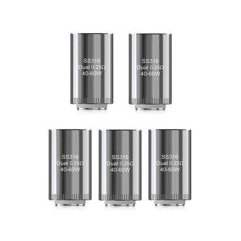 Eleaf Dual Coil 0.25 Ohm (Pack of 5)