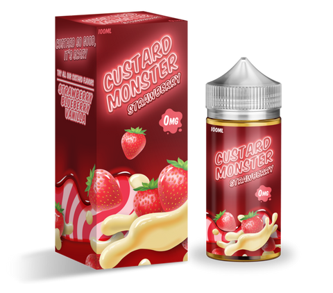 Custard Monster Strawberry Custard E-liquid (100ML)