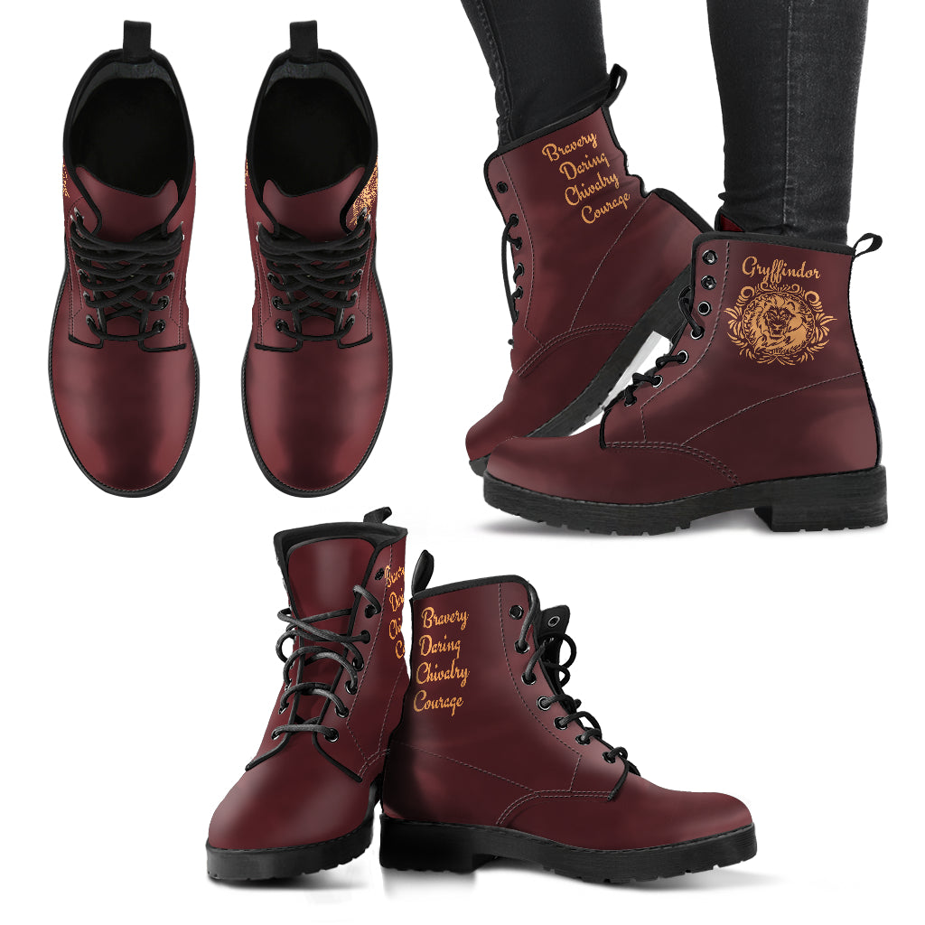 5e1f526572c Women s Leather Boots - Hogwarts Houses - Style Well Spent