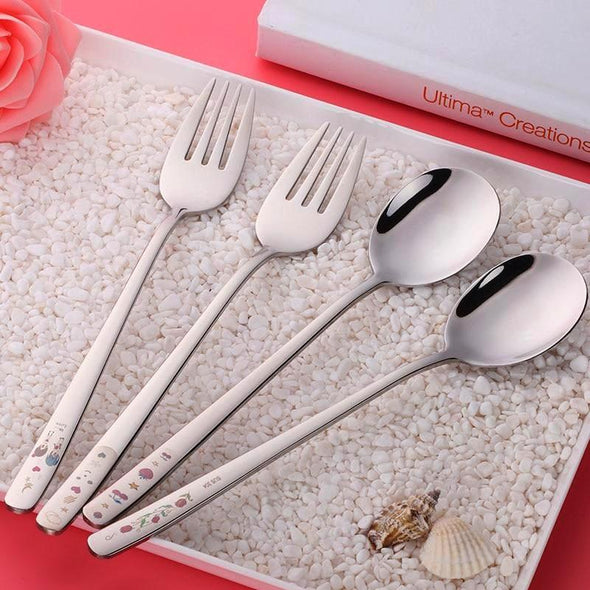 Japanese Style Spoon & Fork Set