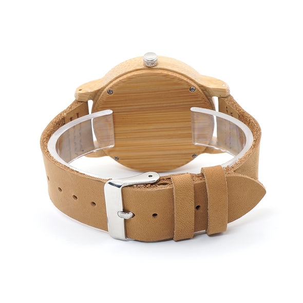 Wood Skeleton Watch With Deer Buck Head Design