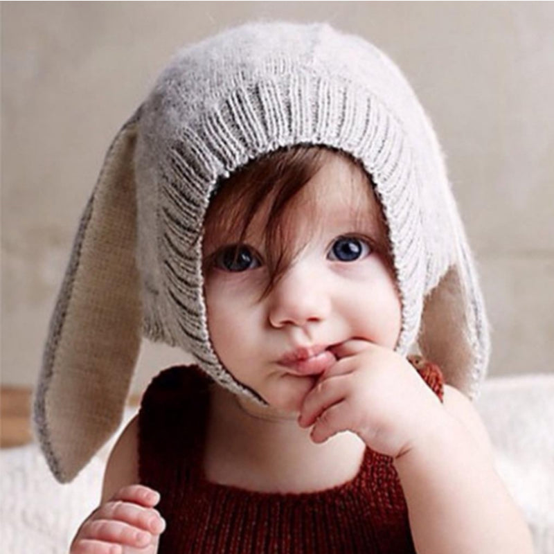 86bcff5d73f Bunny Ears Baby Knitted Hat - Style Well Spent
