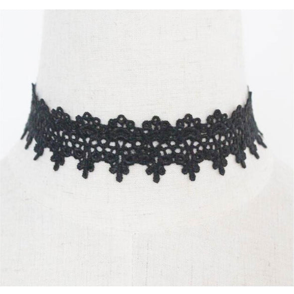 Ready and Waiting Vintage Lace Choker