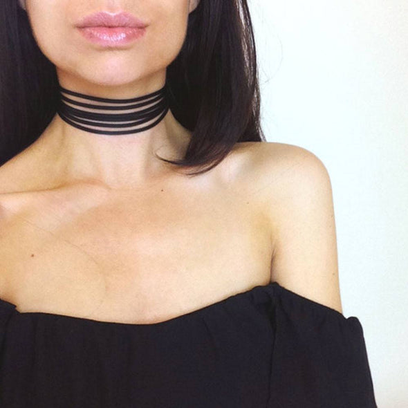 Strappy Suede Choker