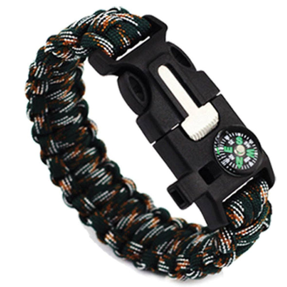 5 in 1 Outdoor Survival Bracelet