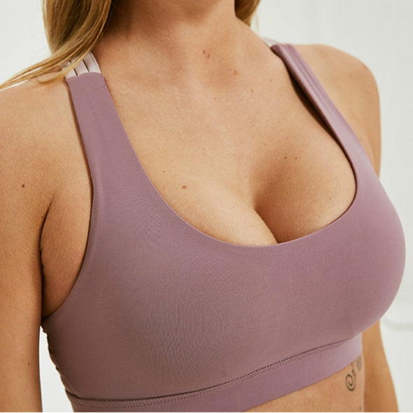 Katrina -  Crisscross Back Push Up Workout Bra