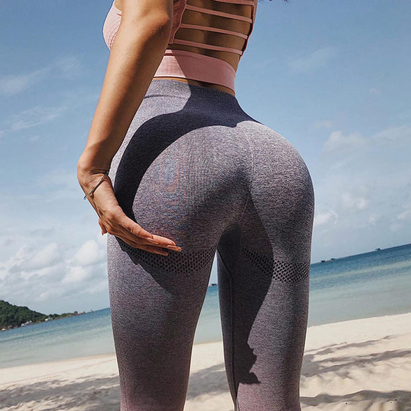 Ombre High Waist Seamless Sports Leggings