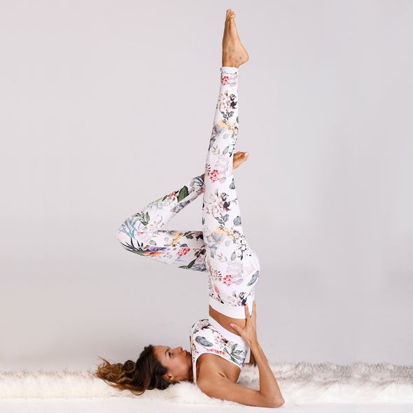 Rebecca - Floral Printed Fitness Suit Yoga Set Sports Bra + Leggings
