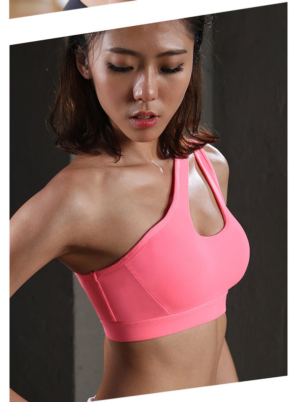 Jennifer - One Side Shoulder Strap Sports Bra