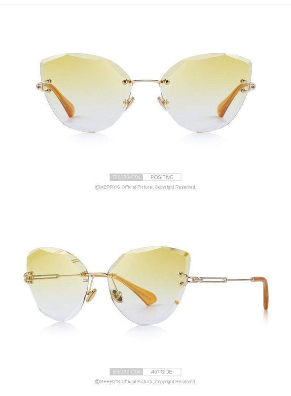 Clout - Gradient Lens Rimless Women's Sunglasses