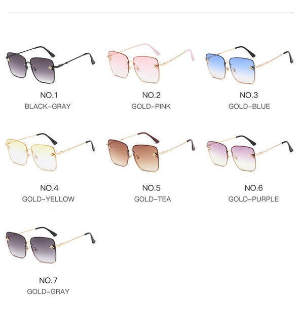 Phoebe - Lux Bee Gradient Square Sunglasses