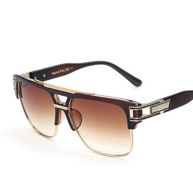 Ingram - Half Metal Frame Vintage Sunglasses