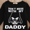 """Don't Mess With My Daddy"" Shirt Top + Pants Baby Set"