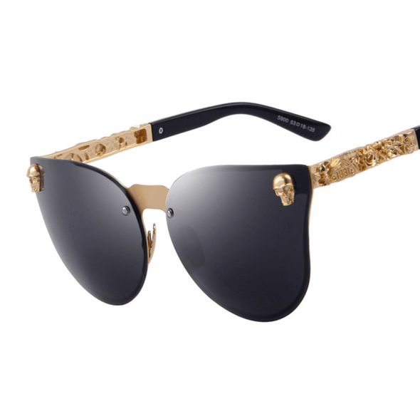 Medusa - Antique Skull Vintage Sunglasses