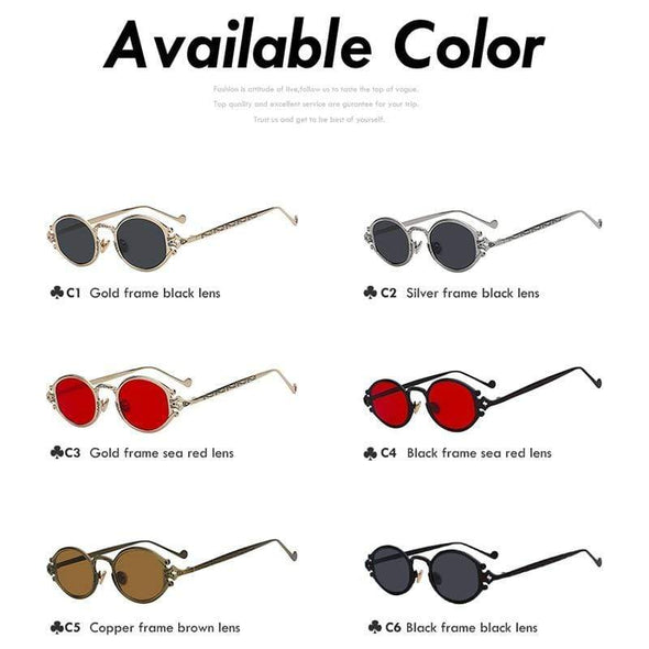 Farrah - Vintage Design Oval Sunglasses