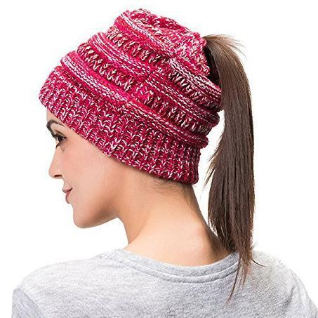 d4ad997cce9 SWS BeanieTail Womens Ponytail Messy Bun Beanie - Style Well Spent