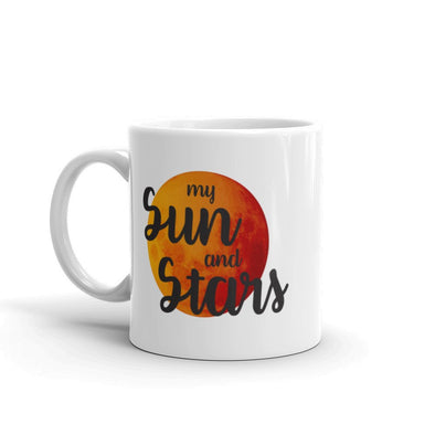 Khaleesi and Drogo themed mugs - Sun and Stars