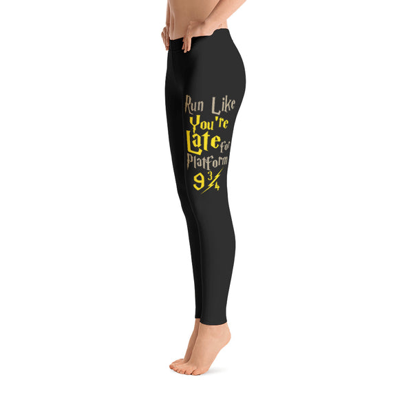 Run Like You're Late For Platform 9 3/4 Leggings