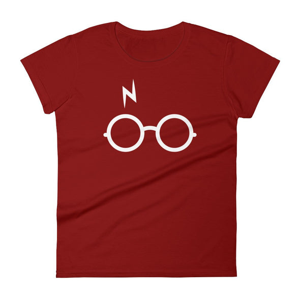 Women's Glasses And Bolt Tee