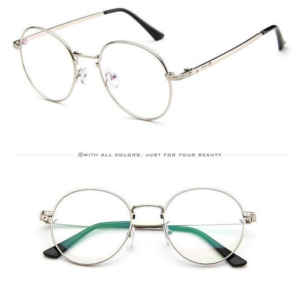 Whiz - Retro Round Metal Frame + Anti-Blue Light Eyeglasses