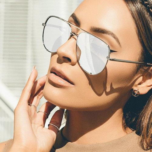 Crown - Silver Mirror Metal Sunglasses