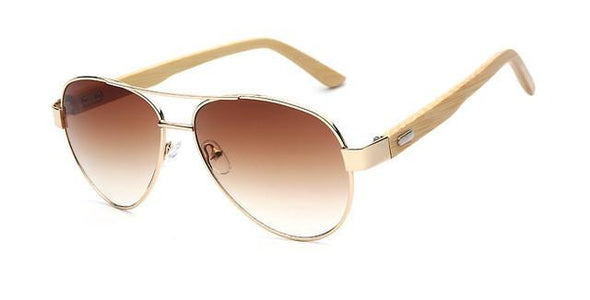 Aviator 51 - Wooden Aviator Sunglasses