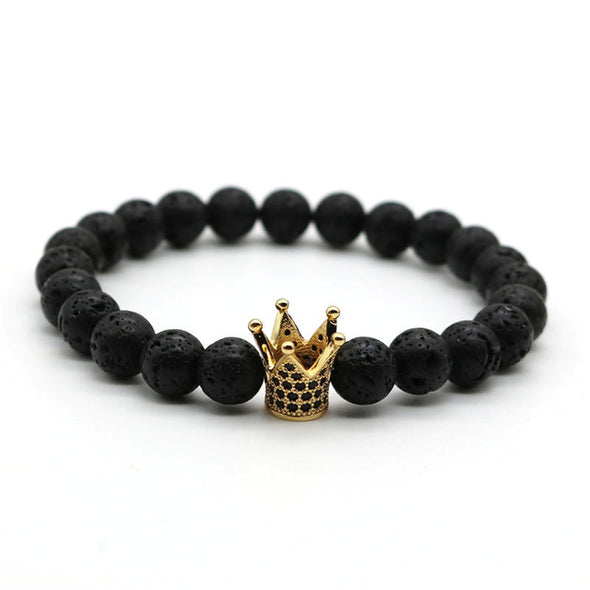 Kingsman - Natural Stone Bracelet With Imperial Crown