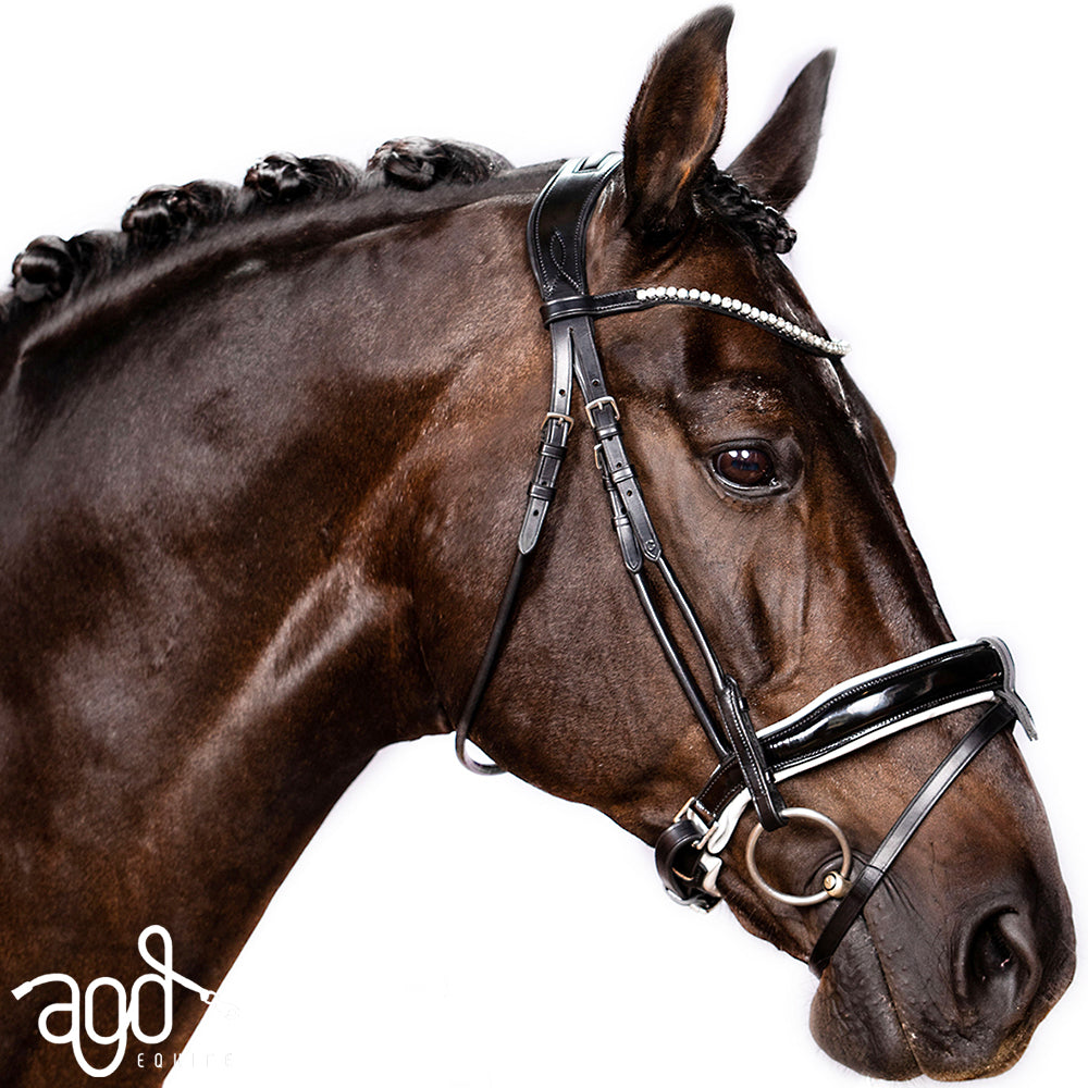 AGD ROLLED PERFECTION SNAFFLE | B&W | Patent