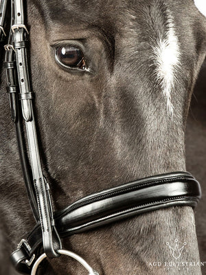 Non-Crank Noseband | Black | CAVESSON | English Leather