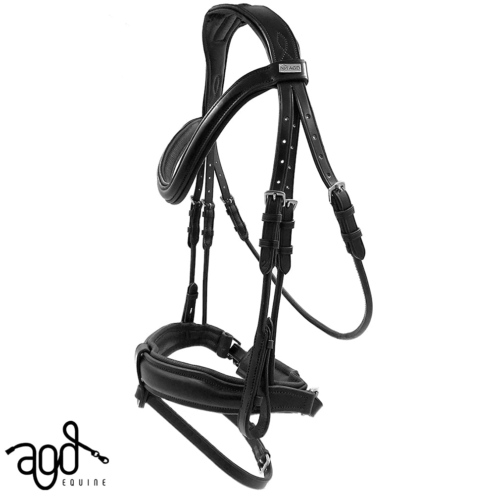 AGD CLASSIC ROLLED SNAFFLE | Black | Matte