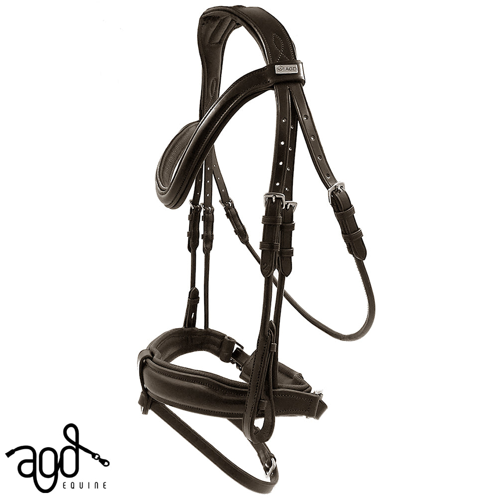 AGD CLASSIC ROLLED SNAFFLE | Havana | Matte
