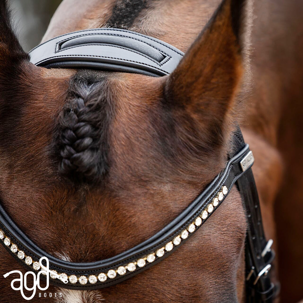Snaffle Headpiece | Black | DISCONTINUED SIZES