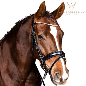 AGD ROSE GOLD SNAFFLE | Black | Matte | Full