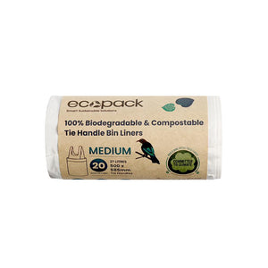 Ecopack Compostable / Biodegradable Bin Liner (3 Sizes)