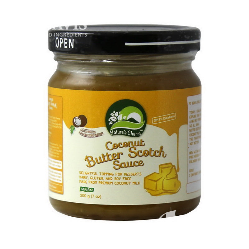 Coconut Butterscotch Sauce Vegan - Nature's Charm