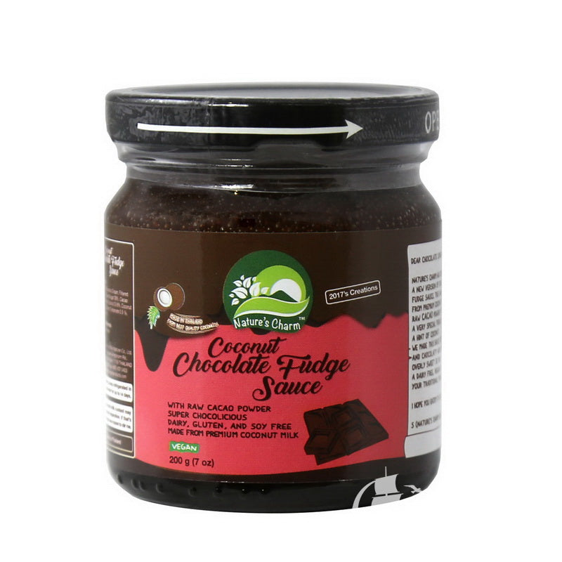 Coconut Chocolate Fudge Sauce Vegan - Nature's Charm