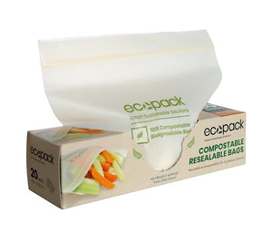 Ecopack 100% Compostable Ziplock Bags (2 sizes)