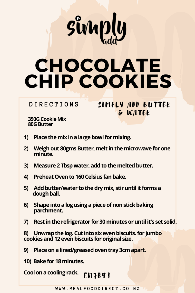 Chocolate Chip Cookie Mix - Simply Add