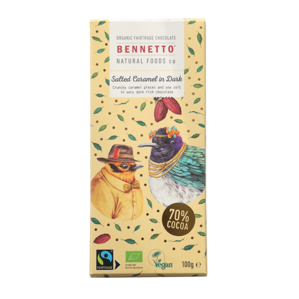Bennetto Salted Caramel in Dark 100g