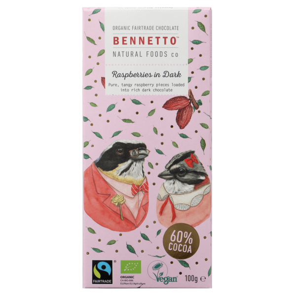 Bennetto Raspberries in Dark 100g