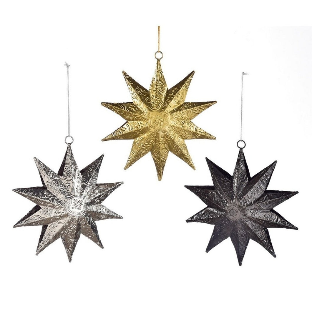Metallic Hanging Star Decoration
