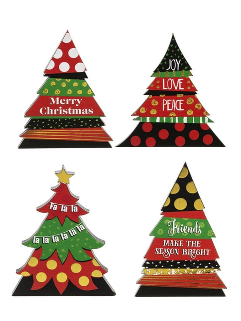 Color Dot Die Cut Tree Plaque