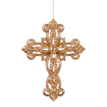 Glitter Cross Ornament