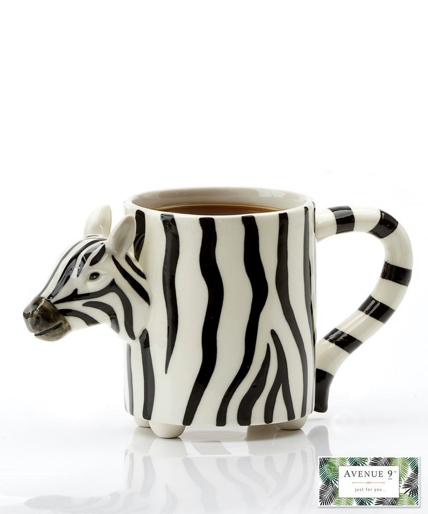 Head and Tail Zebra Mug