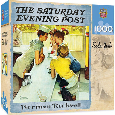 Saturday Evening Post - Soda Jerk 1000 Piece Jigsaw Puzzle by Norman Rockwell