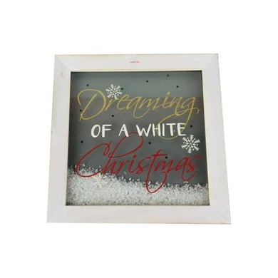 Dreaming of a White Christmas Light Up Shadow Box