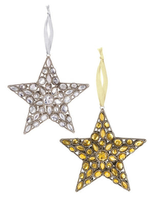 Gold or Silver Jewel Star