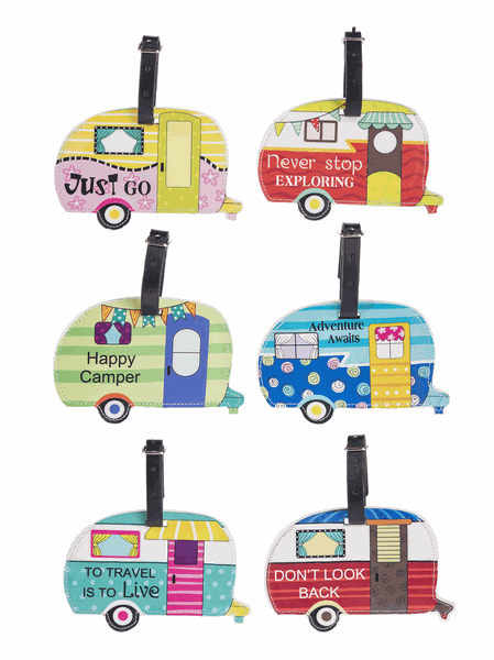 Happy Camper Luggage Tag